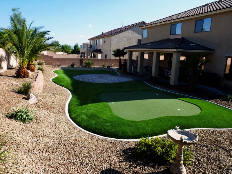 Artificial grass provides a modern appealing look