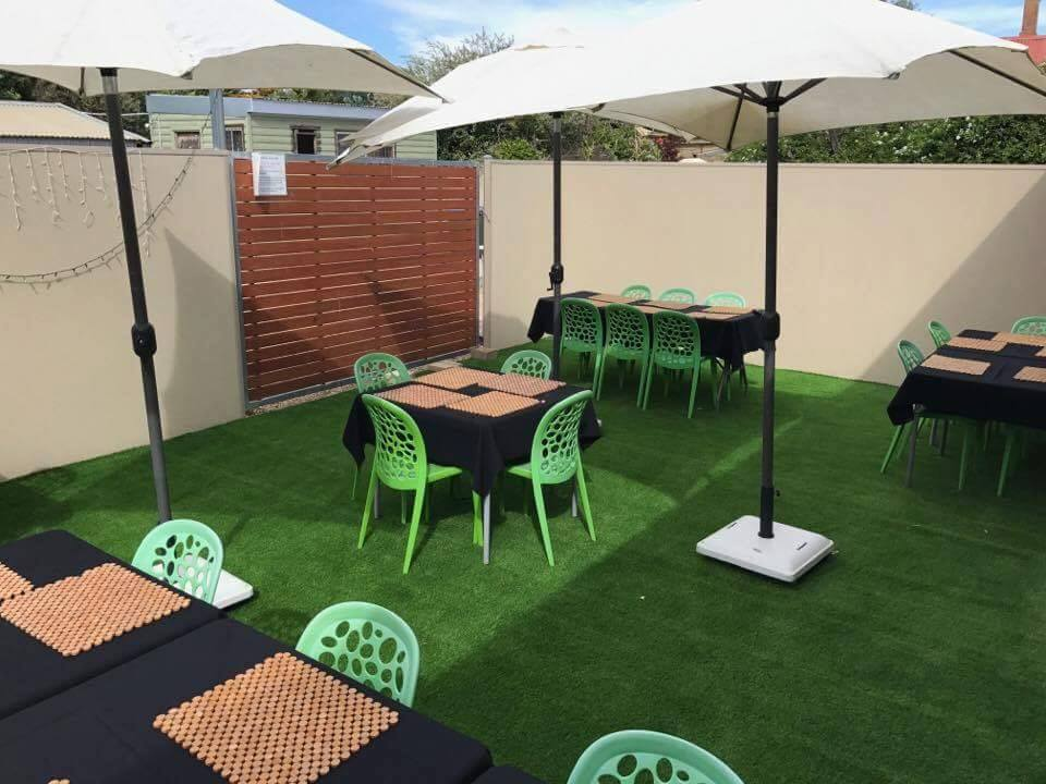 Next Generation artificial lawn at the Empire Cafe