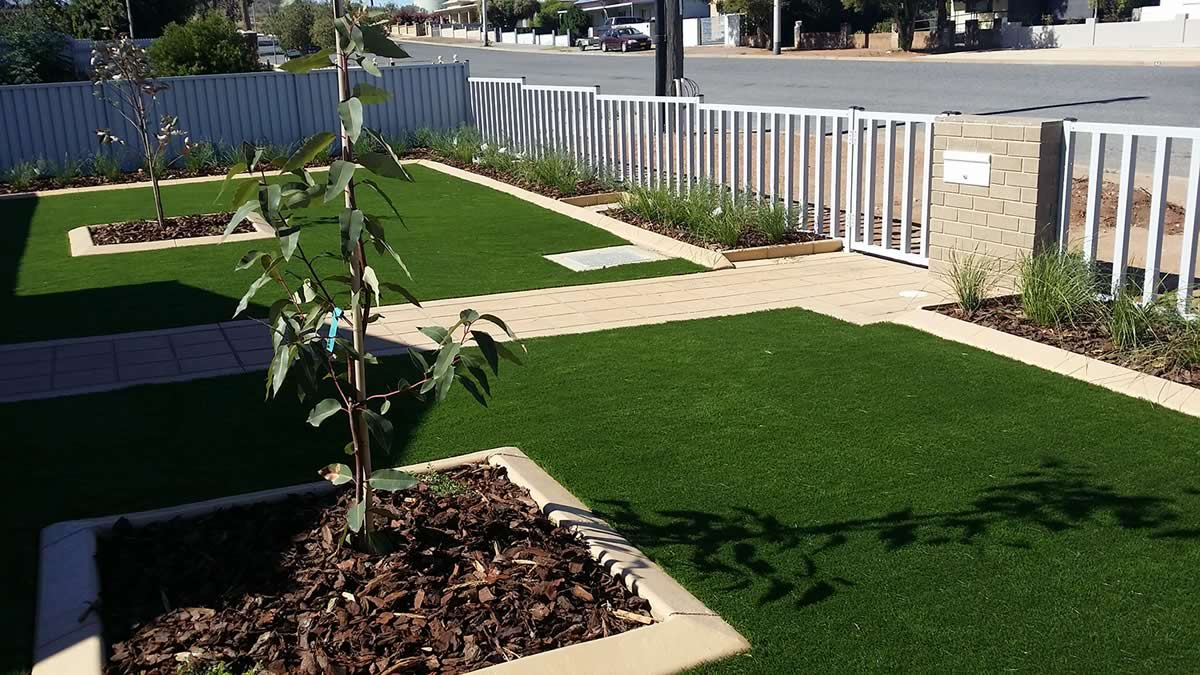 artificial grass - front of residential home