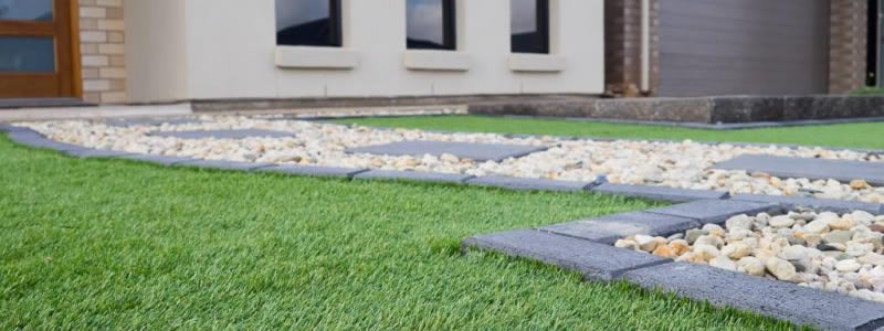 artificial grass lawn residential front yard