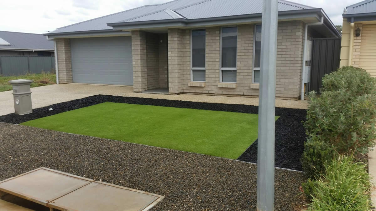 residential artificial grass 1 after
