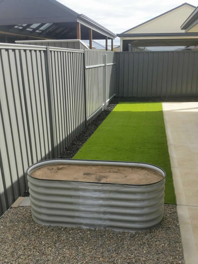residential artificial grass 2 after