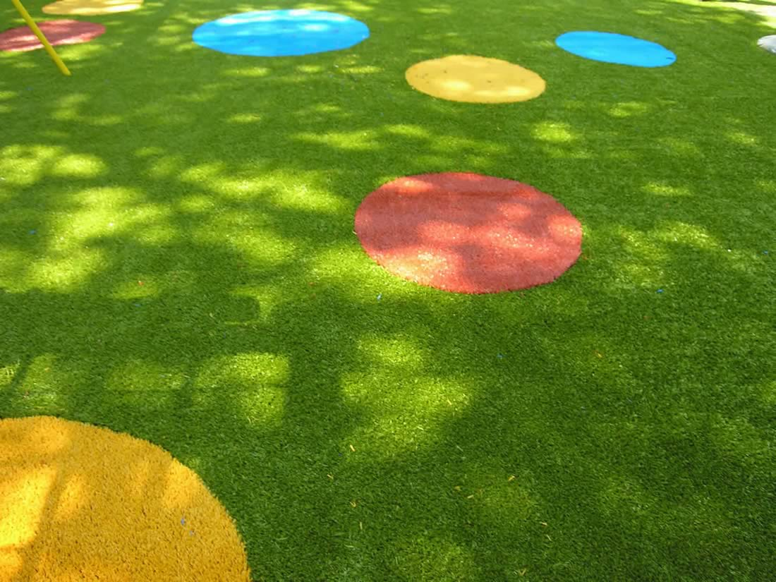 Play Turf synthetic grass in playground